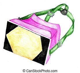 VR Glasses watercolor