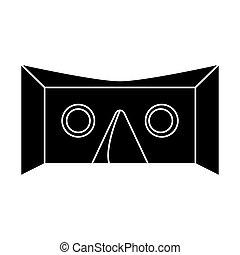 vr goggles technology pictogram vector illustration eps 10