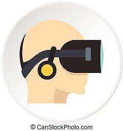 VR headset icon circle