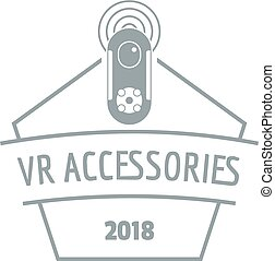 Vr logo, simple gray style