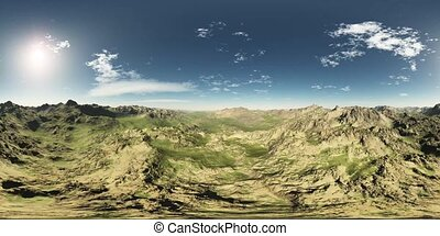 vr360 panorama of mountains. made with the one 360 degree...