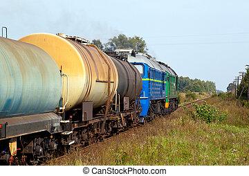 vracht, diesel, trein