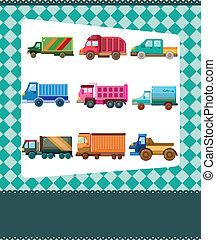 vrachtwagen, kaart