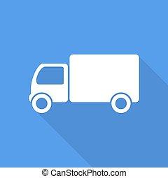 vrachtwagen, pictogram