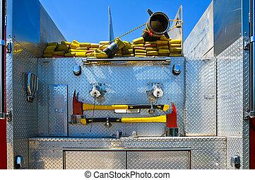 vrachtwagen, vuur