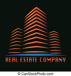 vrai, bâtiment, propriété, logo