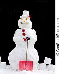 vrai, bonhomme de neige