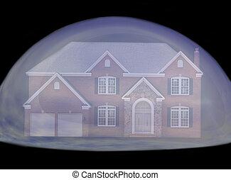 vrai, bulle, propriété