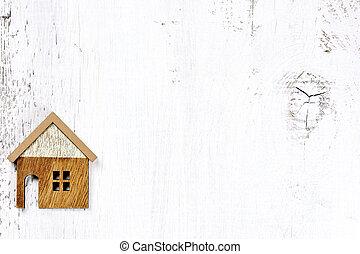 vrai, concept, propriété, maison bois, -, fond, propriété
