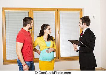 vrai,  couple, propriété,  agent