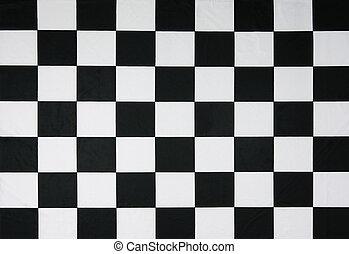 vrai, drapeau, checkered