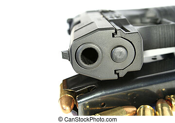 vrai, fusil, balles, agrafe