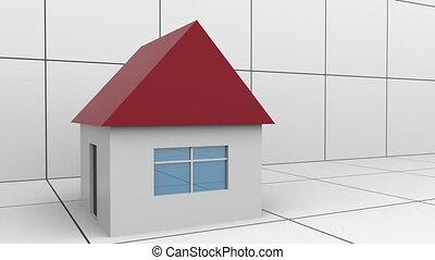 vrai, house-like, concept, barre, propriété, graph., ...