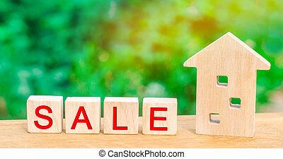 """vrai, housing., bois, """"sale""""., vente, affordable, propriété, maison, maison, estate., inscription"""