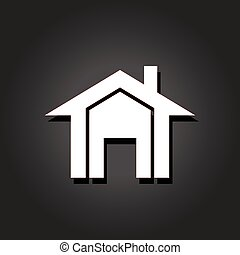 vrai, image., propriété, maisons, vecteur, icône