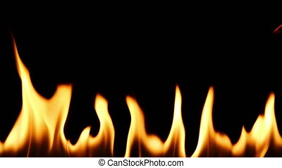 vrai, lent, mur, -, fire., mouvement, brûler, hd