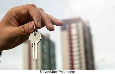 vrai, métaphore, propriété, logement, services, nouveau