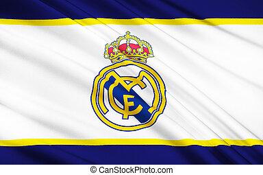 vrai,  Madrid,  club,  football, drapeau, espagne