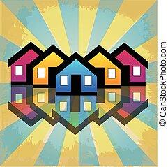 vrai, maisons, copropriétés, propriété, logo