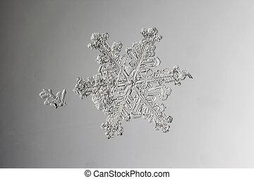 Verre neige mouill verre gouttes ros e - Vrai flocon de neige ...