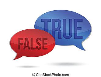 vrai, parole, faux, communication