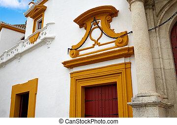 vrai, place,  maestranza, arène,  Séville,  Toros