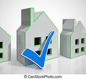 vrai, propriété, internet, maison, icône, -, moyens, concept, 3d, par, illustration, propriété