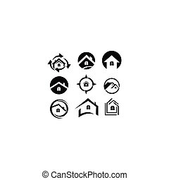 vrai, résidentiel, propriété, bâtiment, maison