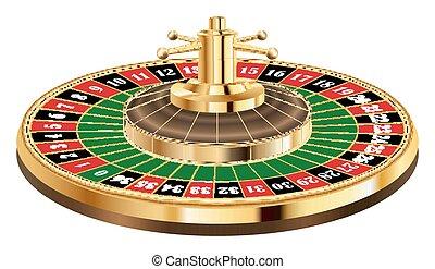 vrai, roulette, blanc, casino, fond