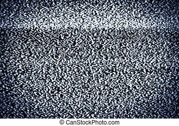 vrai, statique, tv