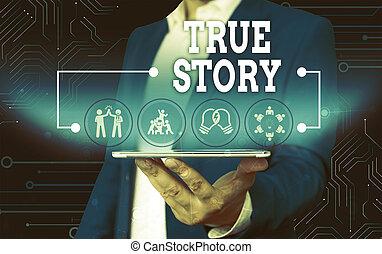 vrai, usure, story., photo, sien, entier, présentation affaires, écriture, complet, projection, vie, individu, texte, travail, intelligent, jour, expériences, présentation, main, conceptuel, device., mâle, formel