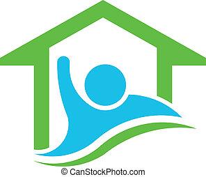 vrai, vec, propriété, business, homeowner.