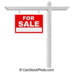 vrai, vente, propriété, signe