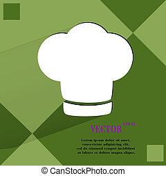 vrchní kuchař, cap., cooking., byt, moderní, pavučina, knoflík, dále, jeden, byt, geometrický, abstraktní, grafické pozadí
