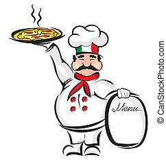 vrchní kuchař, pizza