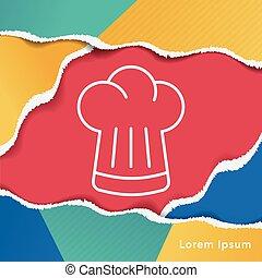 vrchní kuchař povolání, řádka, ikona