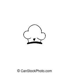 vrchní kuchař povolání, emblém, pralátka