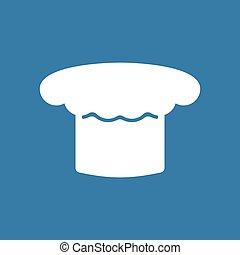 vrchní kuchař povolání, icon., vařit, čapka, white., vektor, ilustrace