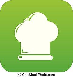 vrchní kuchař povolání, ikona, nezkušený, vektor