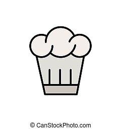 vrchní kuchař povolání, ikona
