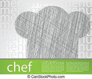 vrchní kuchař povolání, ilustrace