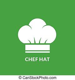vrchní kuchař povolání, vektor, ikona