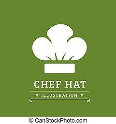 vrchní kuchař povolání, vektor, ilustrace