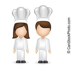 vrchní kuchař, s, běloba povolání