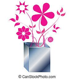 vrchol květovat, uspořádání