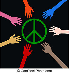 vrede, armen, reiken