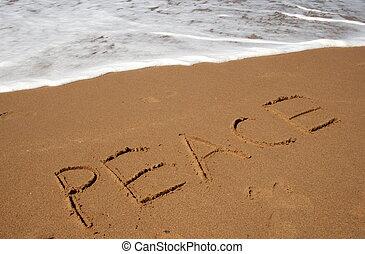 vrede, in het zand