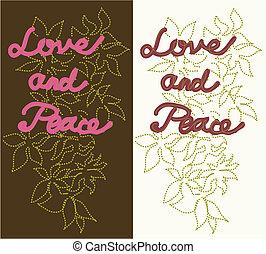 vrede, liefde, lappen