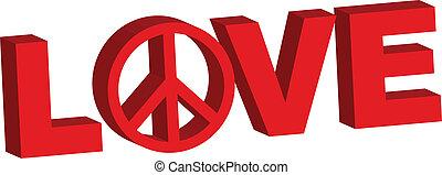 vrede, liefde