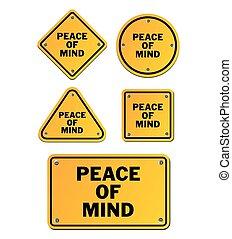 vrede, verstand, tekens & borden